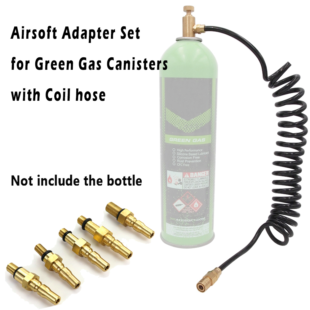 Airsoft Filling Adapter Accessories to Green Gas Canisters Adaptor Sets for HPA Paintball AEG Air Pistols CO2 Gun Adapter Tube