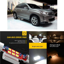 LED Interior Car Lights For Citroen c4 aircross c4 cactus hatchback c4 coupe la c4 grand picasso Dome map lamp bulb error free