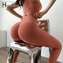 Yoga Pant Leggings Scrunch Butt Running Tights Naked-Feel-Fabric Push-Up Elastic Sport Fitness
