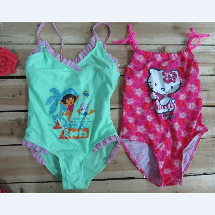Extra-value Special Offer Europe And America New Style One-piece Swimsuit For Children Baby GIRL'S Swimsuit Infant Multi--Multi-