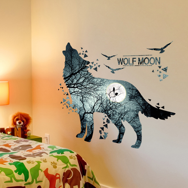 Wolf Forrest 81*74cm Wall Covered