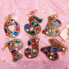 Bag Keyring Key-Chain-Decoration Diamond-Painting-Letter DIY Embroidery Cross-Stitch
