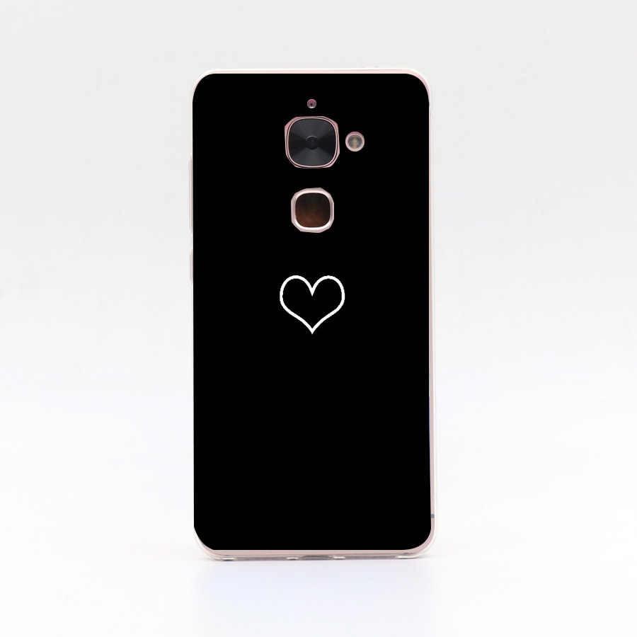 Leeco Letv Le 2 Le2 Pro X527 X620 kapak yumuşak TPU silikon Fundas kalp boyalı için Leeco Le 2X527 telefon kılıfları