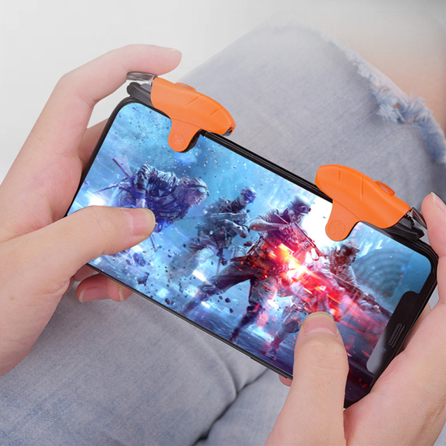 For PUBG Game Controller Gamepad Mobile Phone L1 R1 Trigger Shooting Aim Key Button Anti Skid Press Joystick for IOS / Android
