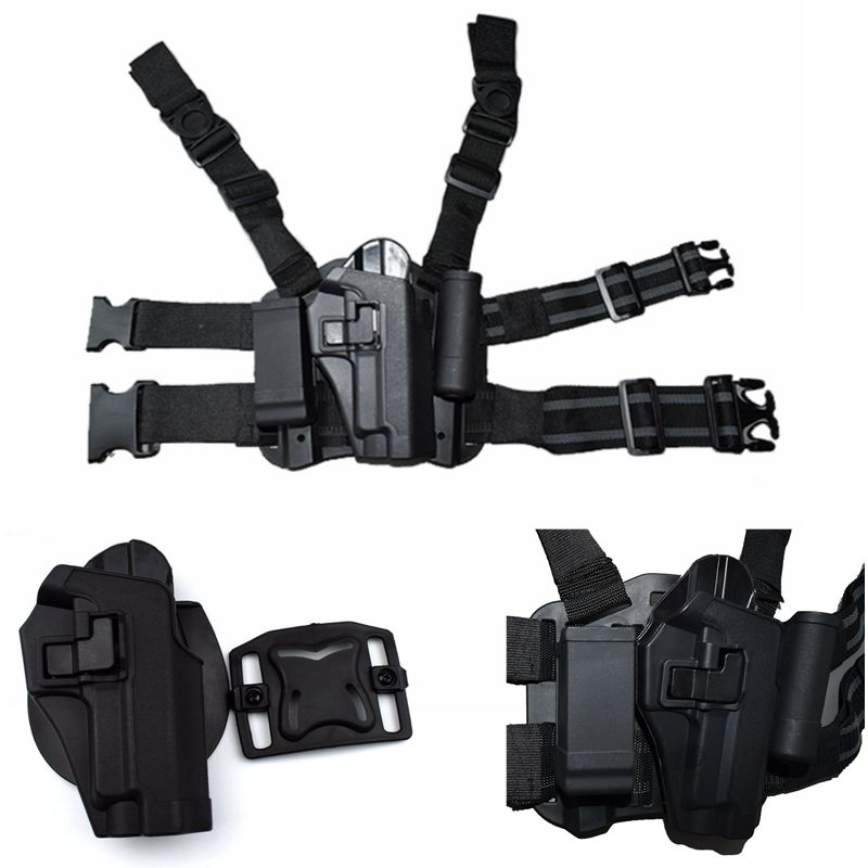 FS Style CQC Tactical Duty Drop Leg Thigh Gun Holster for SIG SAUER P226 P228 P229 image
