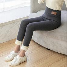 Теплые женские брюки зимние узкие из плотного бархата; Шерстяная