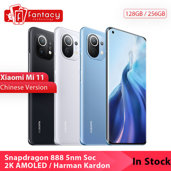 In Stock Chinese Version Xiaomi Mi 11 Mi11 Snapdragon 888 2K 120Hz AMOLED Display 100MP Triple Camera 55W Harman Kardon Speaker