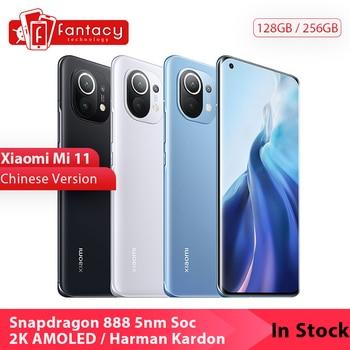 In Stock Chinese Version Xiaomi Mi 11 Mi11 Snapdragon 888 2K 120Hz AMOLED Display 100MP Triple Camera 55W Harman Kardon Speaker