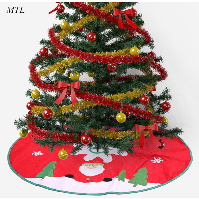 MTL Christmas Tree Skirt Snow Plush Xmas tree skirt Scene Layout Supplies Decoration
