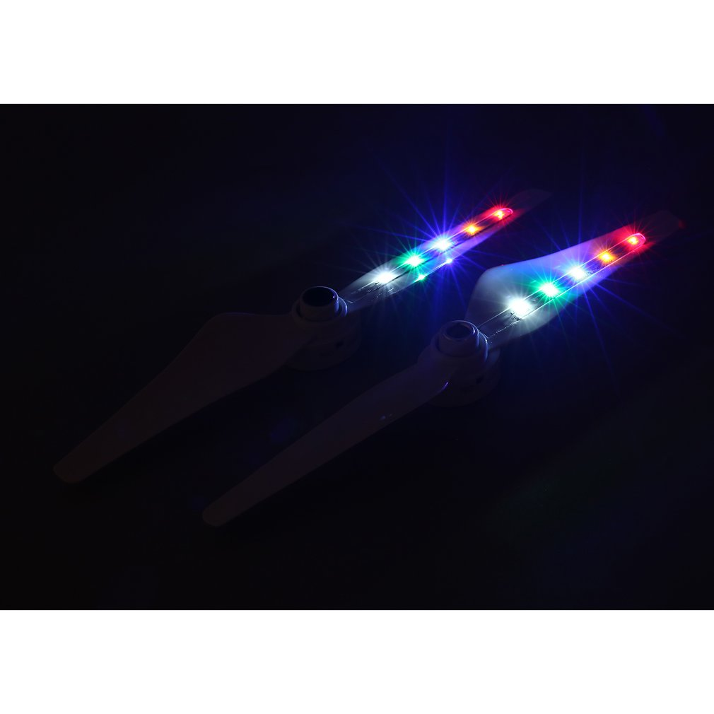 Hot 2 Pairs 9450 Propellers CW CCW Blades Rechargeable LED Light Flash Props for DJI Phantom 3 Standard Advanced Professional SE in Parts Accessories from Toys Hobbies