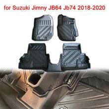 Car Floor Mats TPE Left hand/Right hand Driving Automatic/Manual Transmission Floor Carpet for Suzuki Jimny JB64 Jb74 2018 2020