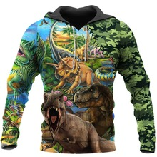 PLstar Cosmos Beautiful Dinosaurs 3D Printed Hoodie Harajuku Fashion Cartoon hooded Sweatshirt Casual Jacket Pullover tops