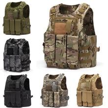 Multi Function Hunting Vest Military Tactical Combat Vest Molle Combat Assault Plate Carrier Tactical Vest CS Outdoor Clothing