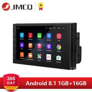 Image 1 - 안드로이드 8.1 2 Din 7 인치 HD 터치 스크린 자동차 라디오 멀티미디어 비디오 플레이어 4 코어 범용 자동 스테레오 gps지도 미러 링크
