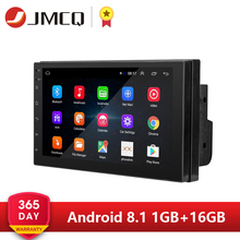 Z systemem Android 8.1 2 Din 7 cal HD ekran dotykowy radio samochodowe multimedialny odtwarzacz wideo 4 rdzeń uniwersalny auto Stereo mapa GPS lustro Link
