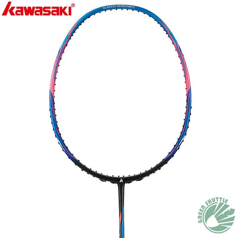 Genuine 2020 6U Light Kawasaki Racquet SuperLight Badminton Racket Speed L3 588 Fiber Single With Grip Sports Raquets