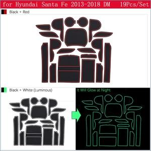 Для hyundai Santa Fe 2013 2014 2015 2016 2017 2018 DM Maxcruz Grand SantaFe ix45 Противоскользящий резиновый слот для ворот коврик дверной паз