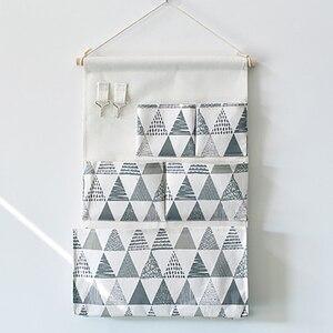Сетчатая Сумка Для Хранения С 5 Карманами, настенная сумка для хранения, водонепроницаемая сумка для мелочей, сумка для спальни, простой Дом...