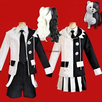 Anime Danganronpa V3: Killing Harmony Cosplay Monokuma Uniform Cosplay Costume Jacket Coat+Shirt+Short Full Set persona 5 futaba sakura shirt coat jacket cosplay costume full set