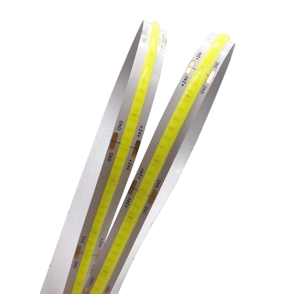High Density COB/FOB Led Flexible Strip Light White/Nature White/Warm White/Red/Green/Blue/Yellow Led Lighting IP65 DC12V 24V