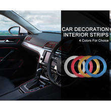 2019 VVVIST 5M Car Styling Interior Air Decoration Strips Moulding Trim Dashboard Door Edge Universal For Cars Auto Accessories 3 7 meter interior moulding trim strip decoration thread dashboard sticker decals door air outlet auto accessories car styling