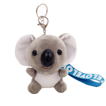 Koala-porte-clés en peluche, jouet poupée Koala, jouet, Imitation lapin en fourrure, sac à dos moelleux, pendentif, cadeaux pour filles et garçons