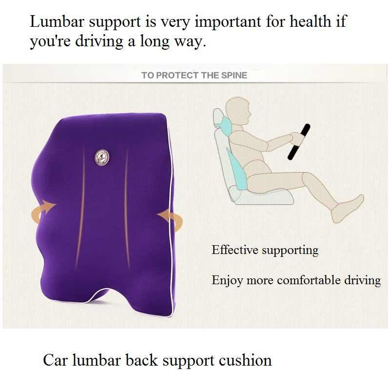 Samochód poduszka na oparcie siedzenia podkładka lędźwiowa z pianki Memory cały wysokim oparciem wsparcie dla ergonomiczne krzesło biurowe komfort poduszka na ciało podróży