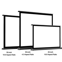 16:9 Tabletop Projector-Screen Pull-Up Folding Theater 50/60inch Home Manual