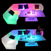 LED light sofa coffee table combination bar club KTV room card seat table and chair creative personality furniture counter chair