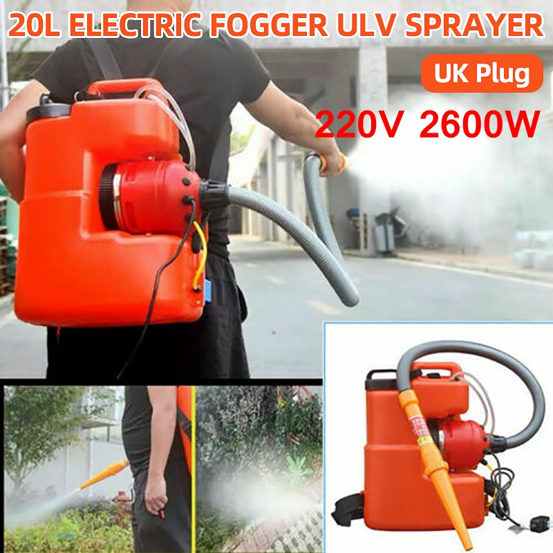 2600W Handheld Electric ULV Disinfection Fogger Machine 20L Ultra Capacity Sterilization Sprayer Fogging Nebulizer 220V