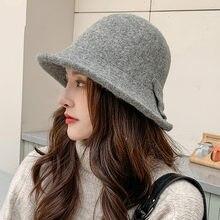 COKK chapeau femmes hiver seau chapeau cachemire tricoté pêcheur casquette automne hiver Bob chapeaux avec noeud décontracté Vintage doux chaud nouveau