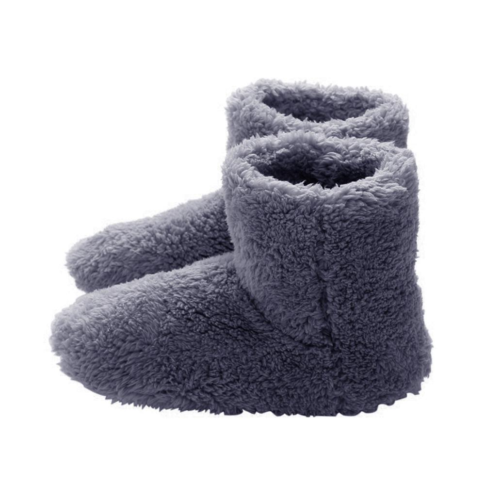 Heated Shoes USB Rechageable Warm Comfortable Shoes Comfortable Plush Heat Up Slippers Heated Warm Cold Weather Shoes Electric Heating Footwarmer Shoes