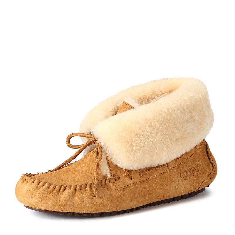 Winter Women Flats Shoes Genuine Leather Plush Warm Real Fur Mujer Shoes Top Qualiy Hand Made Winter Shoes for Women Flats