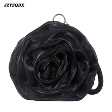 Women's Bag Rose Handbag Metal Hasp Wedding Bag Vintage Satin Shoulder Bags Women Banquet Evening Bag