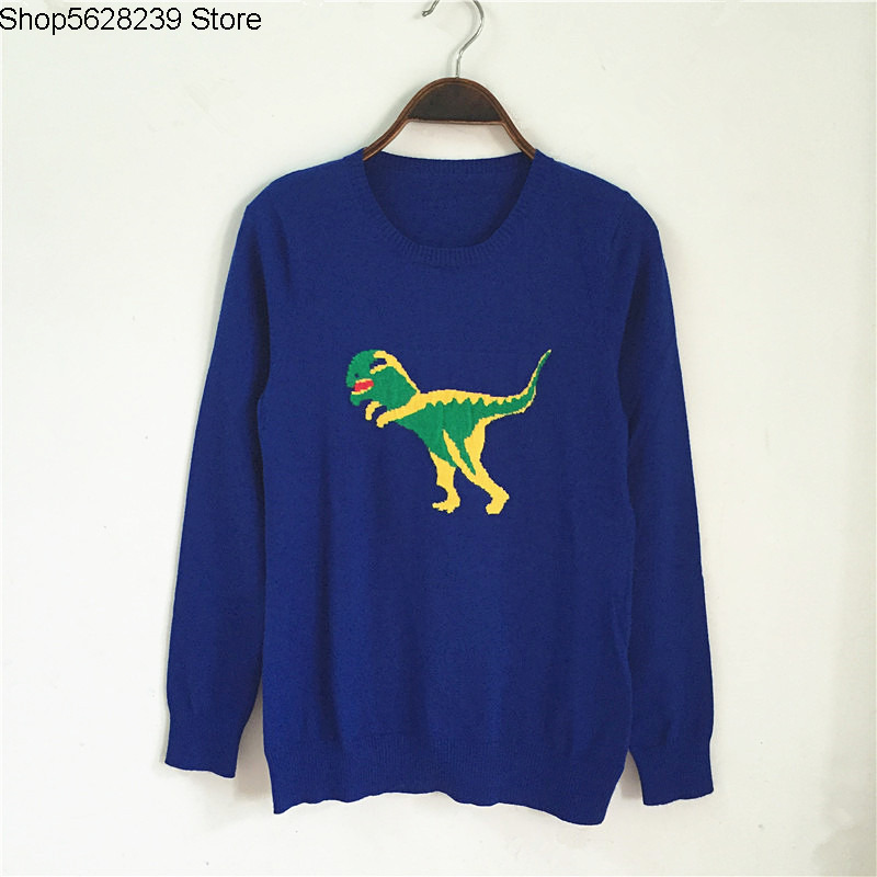 Women's Wear Go Show Round Neck Long Sleeve Animal Jacquard Wool Joker Knitting Shirt Sweater