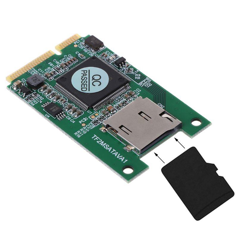 Micro SD TF Card to Mini PCI-E mSATA SSD Solid State Drive Adapter Converter for PC Computer Laptop Accessories