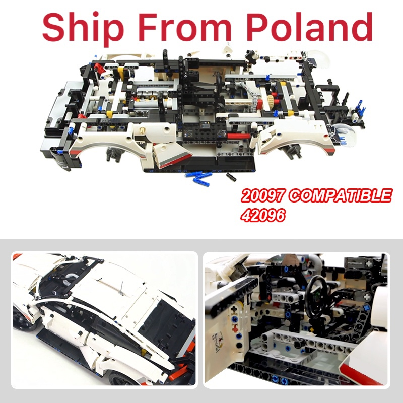 New Lepinblocks 20097 Super Car 1580pcs Model  Compatible Technic Voiture 42096 Building Bricks Toy Christmas Gifts