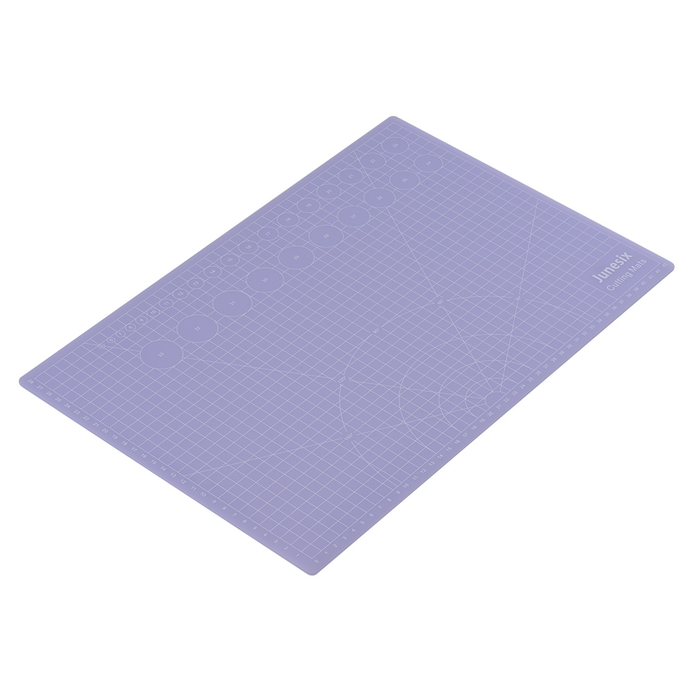 Cutting Mat Translucent Self-Healing 3mm Thickness Mini Durable Non-slip PVC Cutting Board For Arts & Crafts, 6 * 6cm