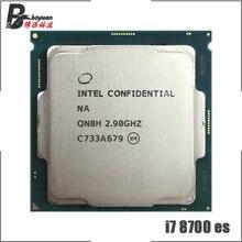 Intel Core i7 8700 es i7 8700 es i7 8700es 2.9 GHz Six cœurs douze fils processeur dunité centrale 12 M 65 W LGA 1151