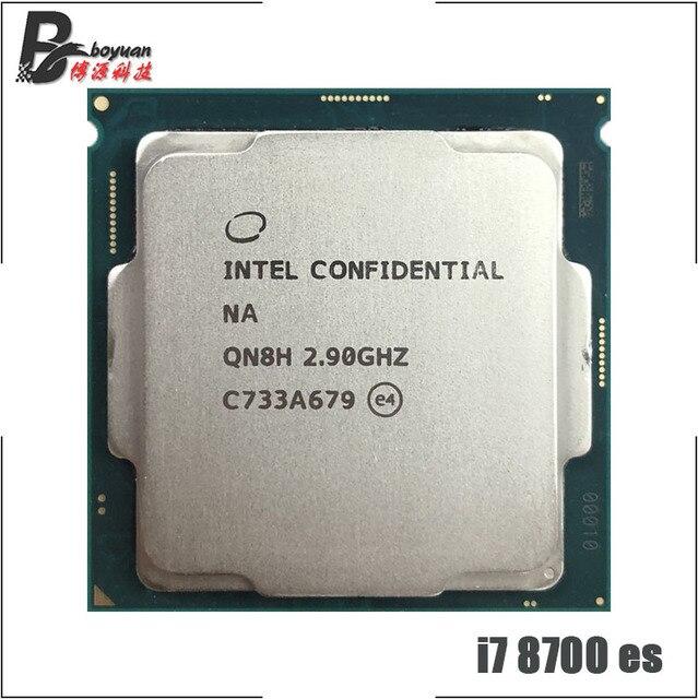 Intel Core i7 8700 es i7 8700 es i7 8700es QN8H 2.9 GHz Six Core Twelve Thread CPU Processor 12M 65W LGA 1151