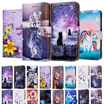 Перейти на Алиэкспресс и купить Кожаный чехол-книжка для Inoi 2 Lite, 2019, чехол-кошелек для Inoi 3 Lite 5 Lite 5i 5 Pro 5X lite 6 7Lite, чехол для задней панели телефона