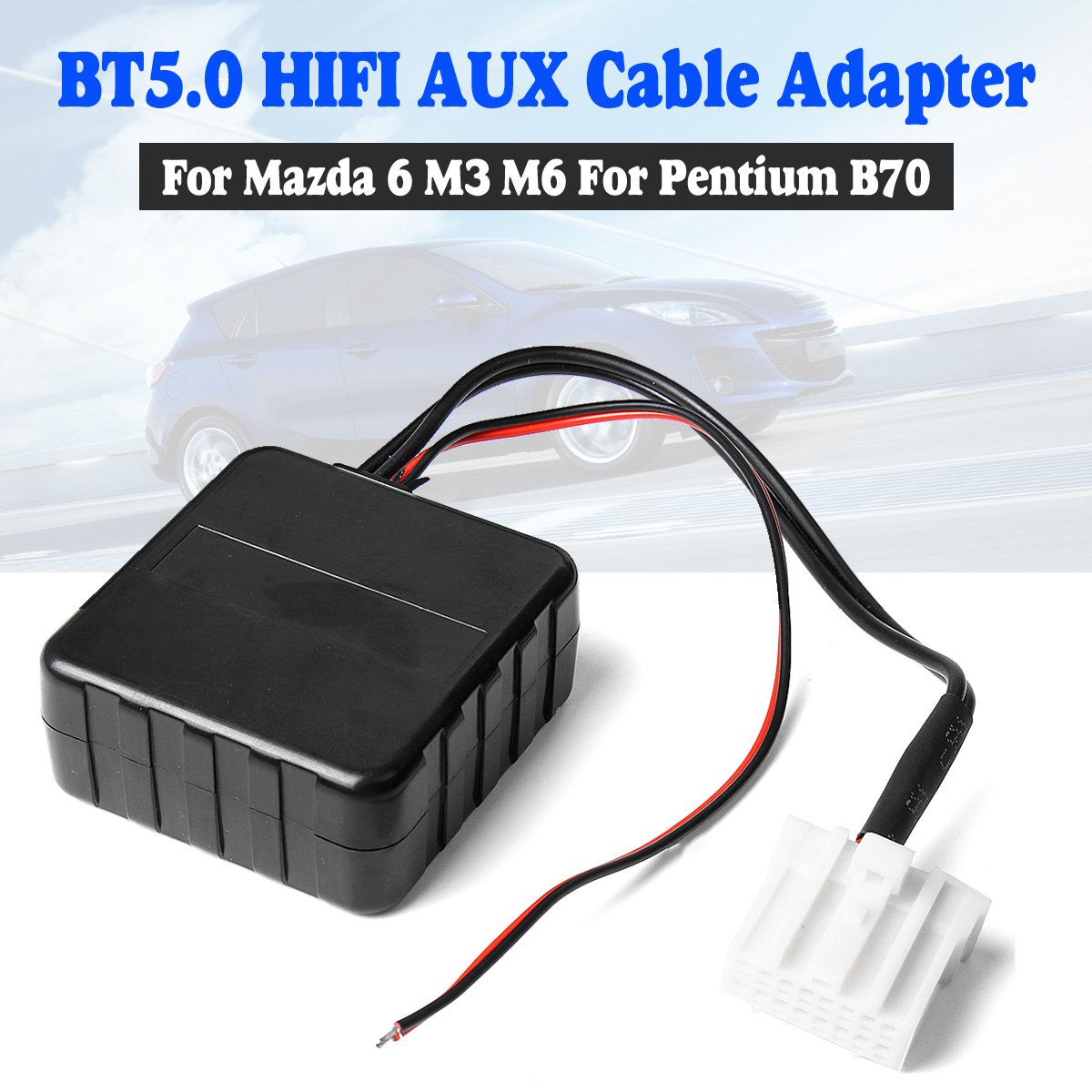 Car <font><b>bluetooth</b></font> Radio AUX Cable Adapter Stereo Music For <font><b>Mazda</b></font> <font><b>6</b></font> M6 M3 RX-8 MX-5 Pentium B70 image