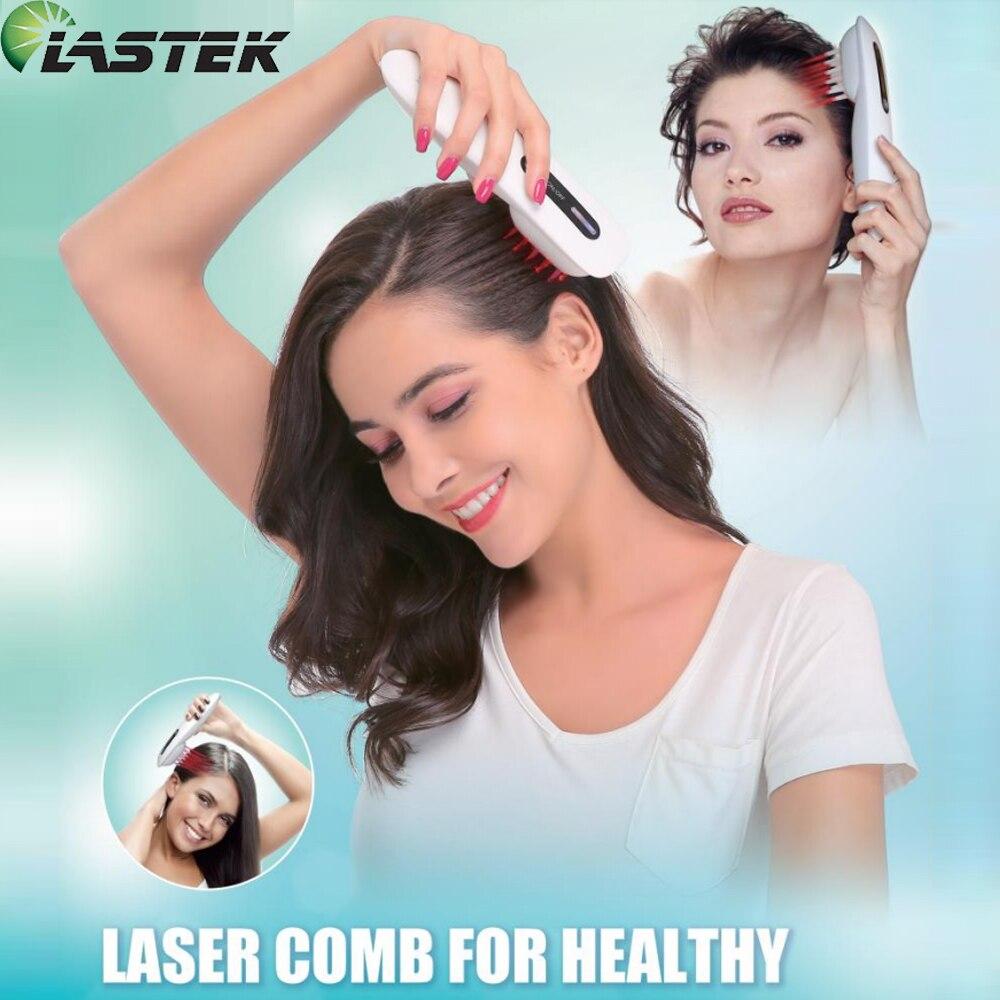 LASTEK Расческа для роста волос, вибрационный массаж, очиститель крови, Tetter Eczema, лечение акне, полупроводниковое устройство для лазерной терап...