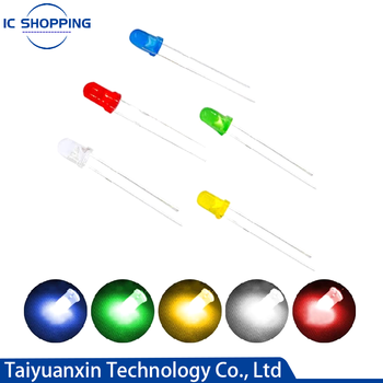 100pcs 3mm LED Light Diodes, Red/Green/Yellow/Blue/White LED Circuit Assorted Kit for Science Project Experiment COMPONENT DIY k 3d led light squared diy kit 8x8x8 3mm led cube white led blue red ray light pcb board table lamps free shipping