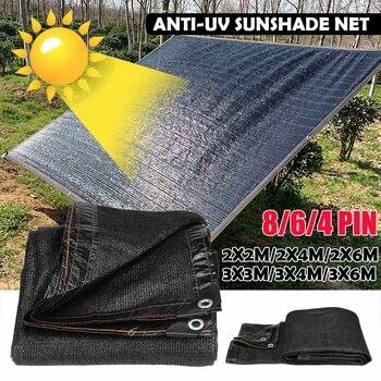 Anti-UV sombrilla neto de jardín al aire libre solar cortina bloqueadora solar neta paño de la planta de efecto invernadero CUBIERTA Cubierta del coche/55/70/85% sombreado de