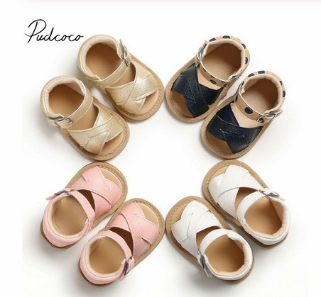 2019 Baby Summer Shoes Newborn Infant Baby Girls Boys Shoes Solid Non-slip PU Leather Breathable Toddler Shoes 0-18M