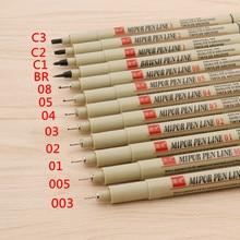 Pen Set-Needle-Pen Fine-Point Stationery Crayon Line Art-Hook Painting Drawing Waterproof