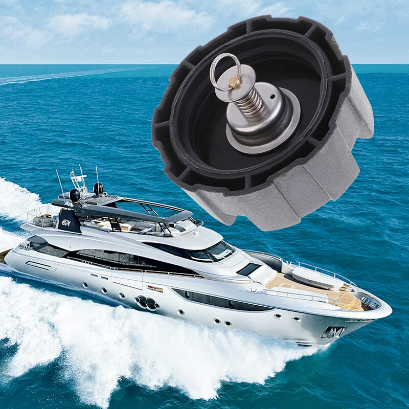 Boat Gas Cap Fuel Oil Tank Cover Assy For Universal 12L 24L Boat Outboard Engine Thread Tank Gas Cap Yacht Boat Accessories