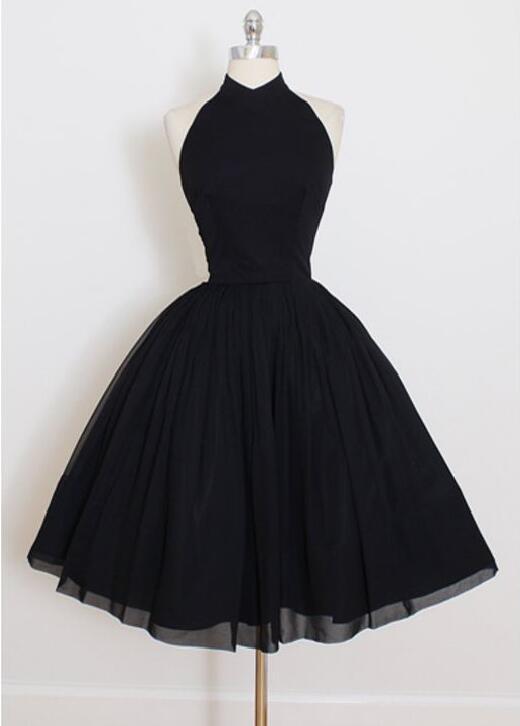 Купить короткое черное шифоновое платье на Алиэкспресс