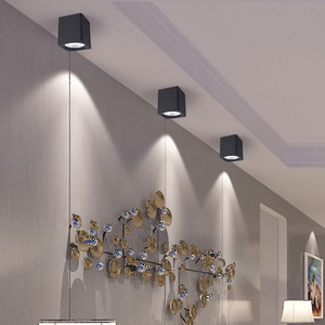 Image 5 - [DBF]Square White/Black No Cut Surface Mounted Downlight High Power 10W 20W 30W Ceiling Spot Light 3000K/4000K/6000K AC110V 220V